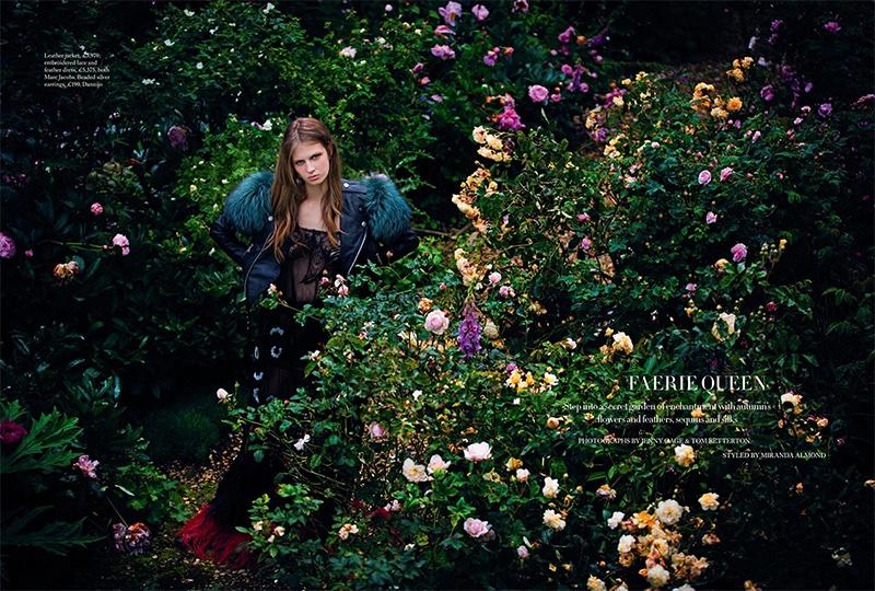 Florency Kosky stars in Harper's Bazaar UK's November issue