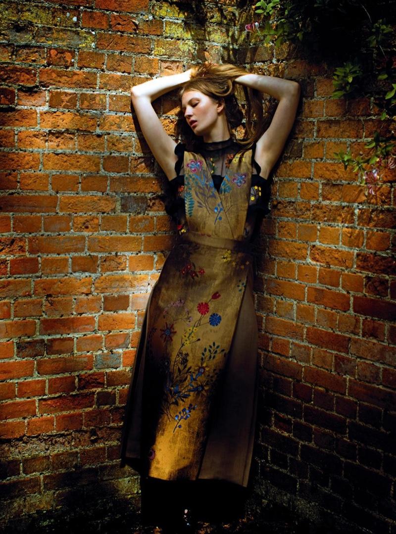 Florence Kosky layers in embellished Fendi dresses