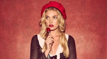 Elsa Hosk is Parisian Chic in For Love & Lemons' Holiday Looks