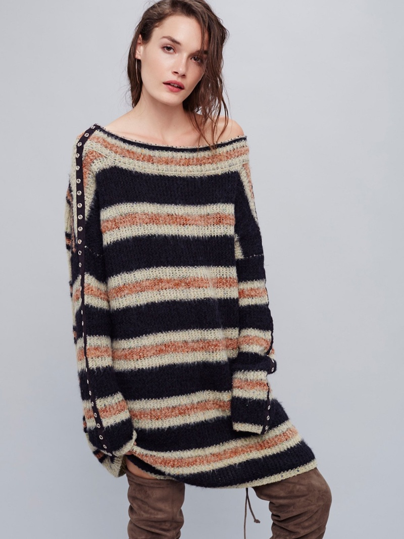Free People Sid Stripe Sweater Dress