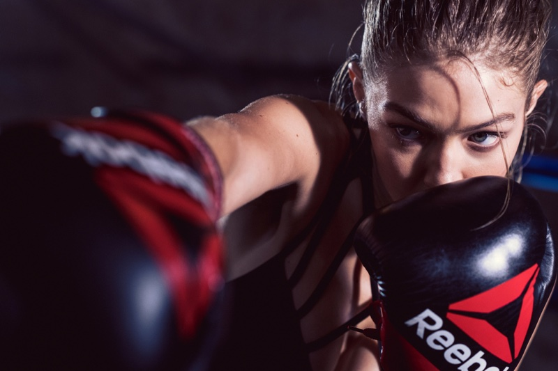 Gigi Hadid throws some punches for Reebok campaign