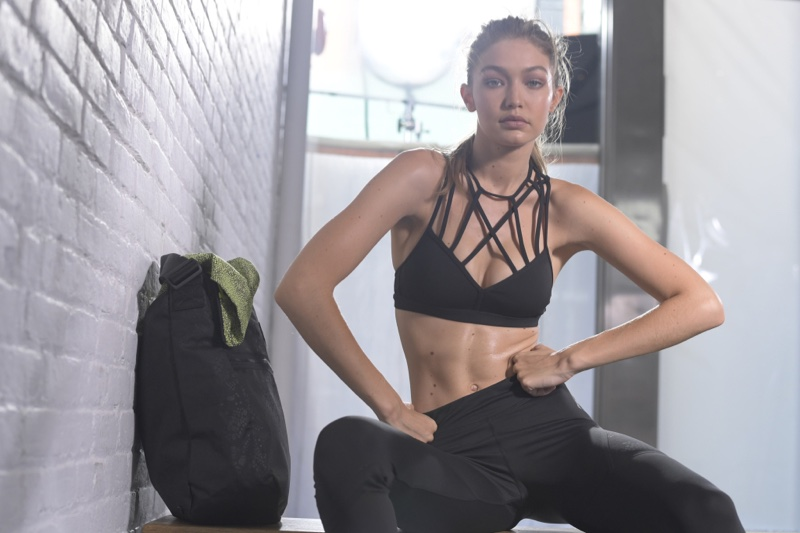 Gigi Hadid behind the scenes in Reebok #PerfectNever campaign