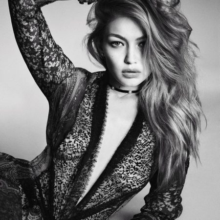 Gigi Hadid Looks Lovely in Lace for Vogue Japan