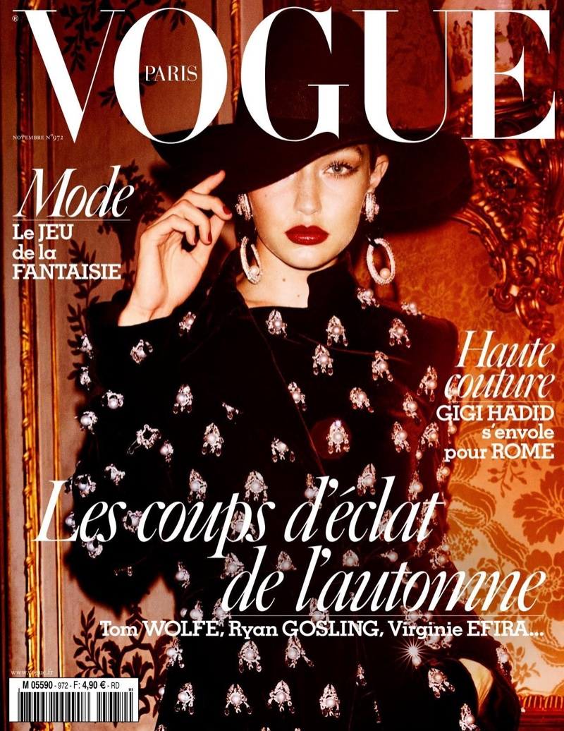Gigi Hadid on Vogue Paris November 2016 Cover