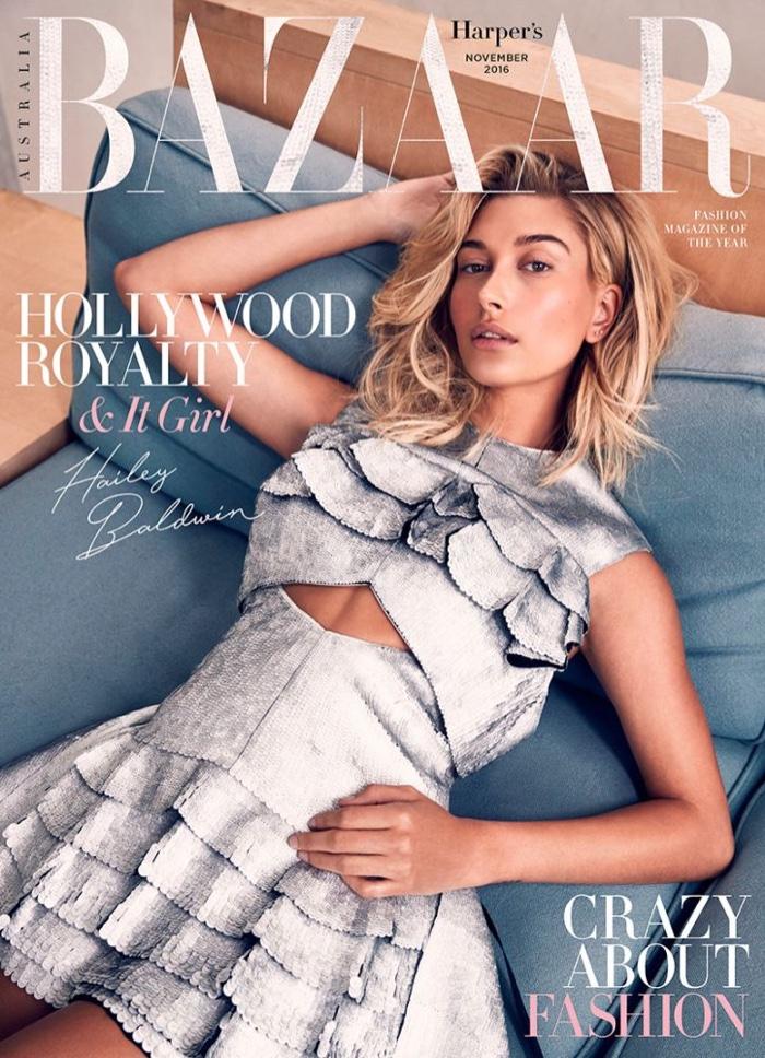 Hailey Baldwin on Harper's Bazaar Australia November 2016 Cover