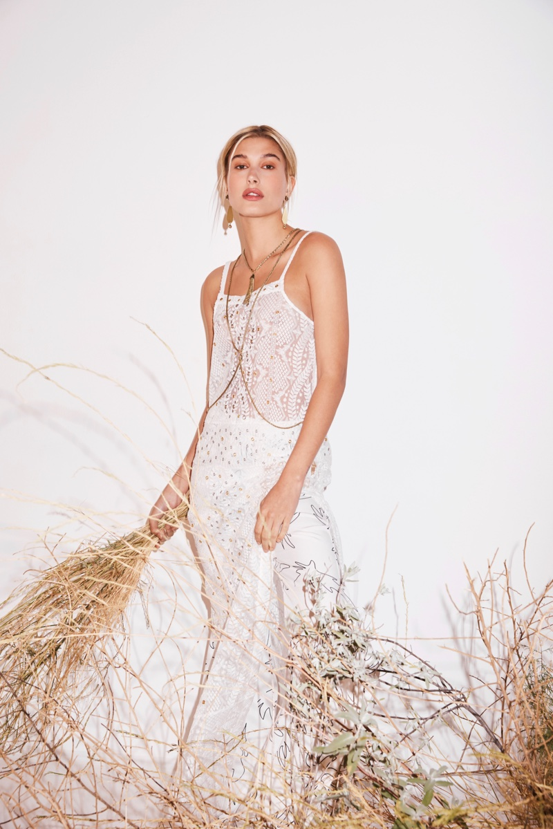 Looking lovely in white, Hailey Baldwin appears in Sass & Bide's resort 2017 campaign