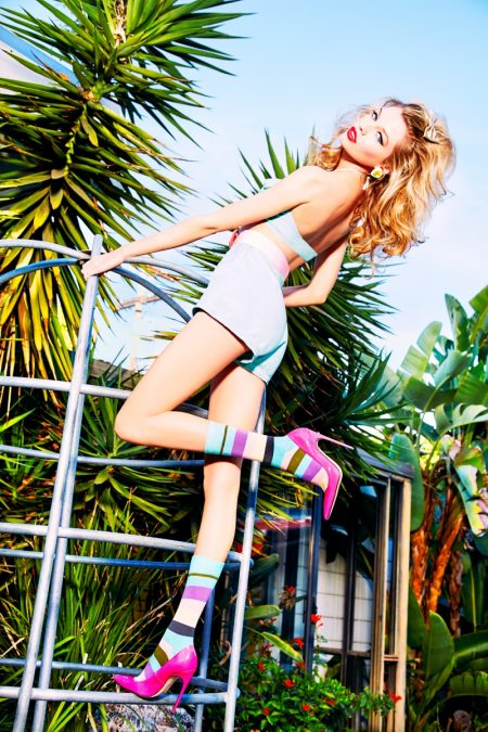 Stella Maxwell Goes Pin-up in Happy Socks' Fall Campaign