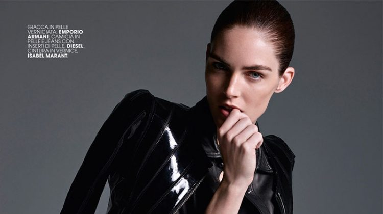 Hilary Rhoda Wears Cool Girl Jackets for Marie Claire Italia