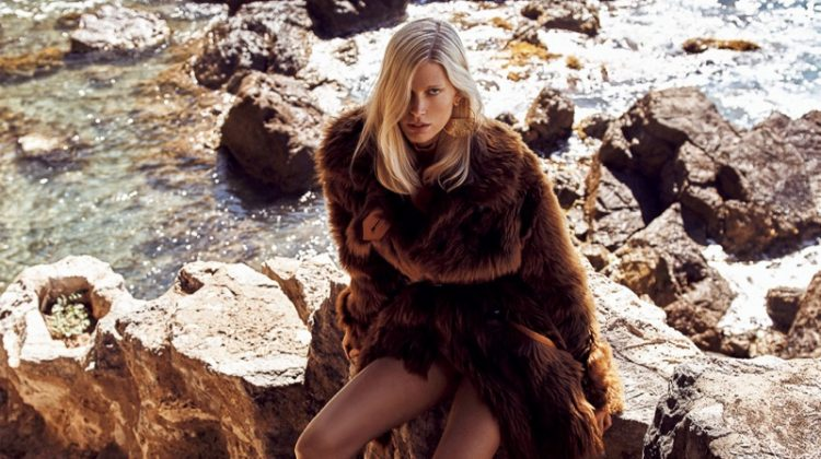 Iselin Steiro Poses in Shades of Brown for Vogue Japan