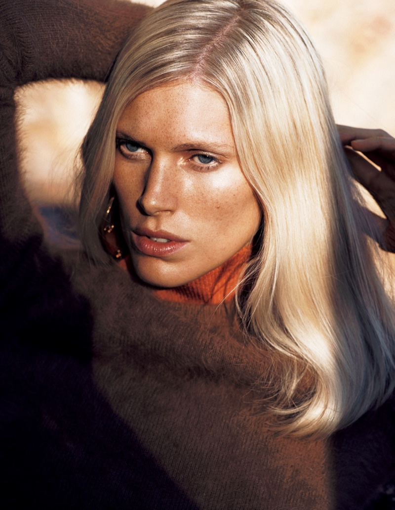 Iseline Steiro gets her closeup in Bally sweater