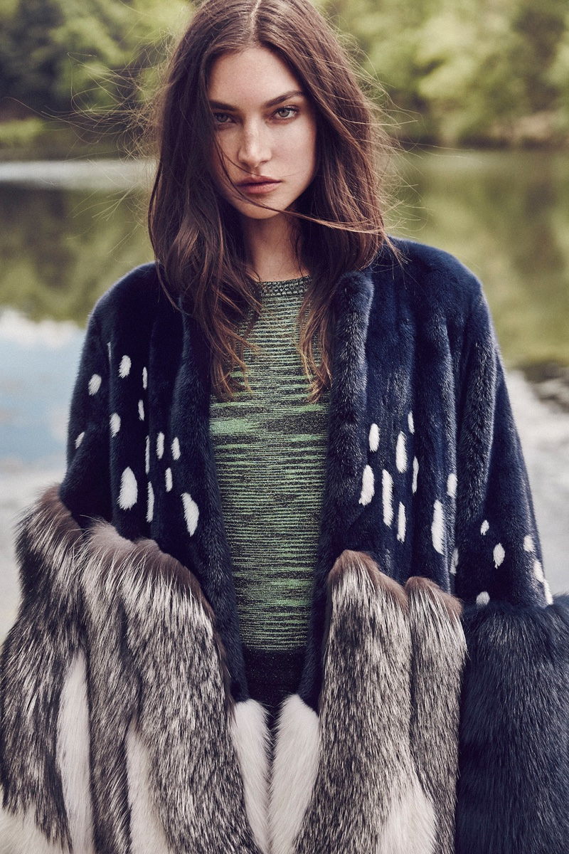 Jacquelyn Jablonski Models Luxe Outerwear for Vogue Mexico
