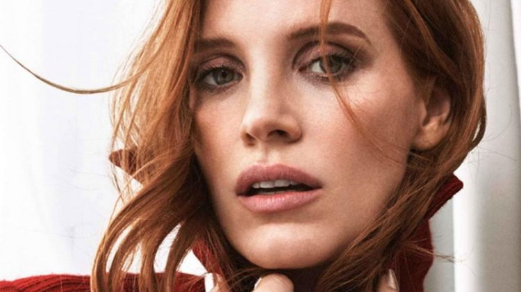 Jessica Chastain is a Sophisticated Vision for ELLE France