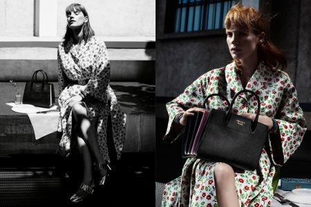 Jessica Chastain Poses in Milan for Prada's Resort 2017 Campaign