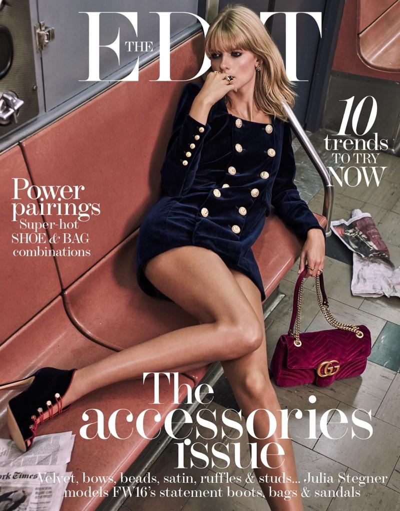 Julia Stegner on The Edit October 13th, 2016 Cover