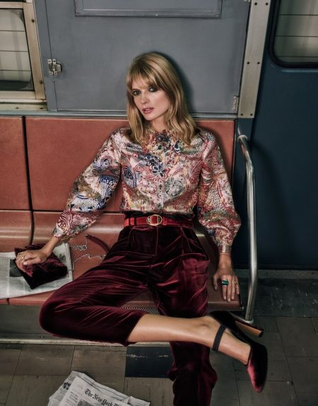 Julia Stegner Brings Glamour to the Subway for The Edit