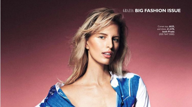 Karolina Kurkova Works It in the Fall Collections for Grazia UK