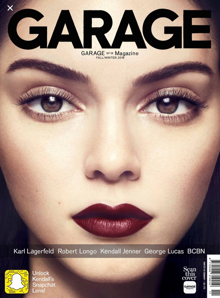 Kendall Jenner on Garage Magazine #11 Cover