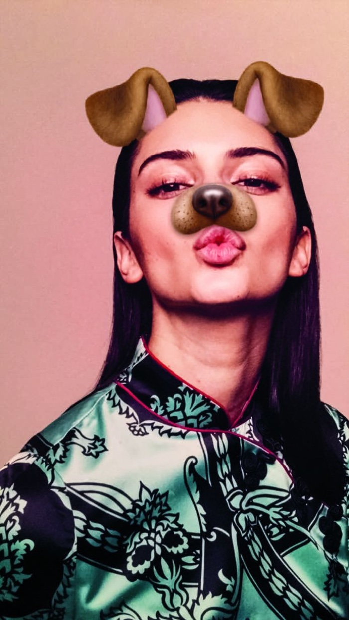 Kendall Jenner poses with dog ears