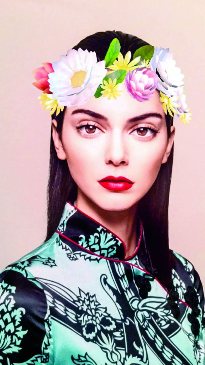 Kendall Jenner Has Fun with Snapchat Filters for Garage Magazine
