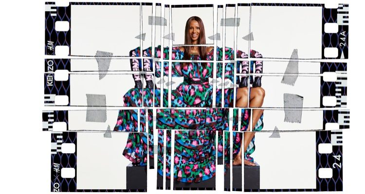 Iman, Chloe Sevigny Get Graphic in Kenzo x H&M Campaign