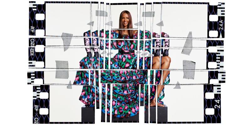 Supermodel Iman strikes a pose in Kenzo x H&M campaign