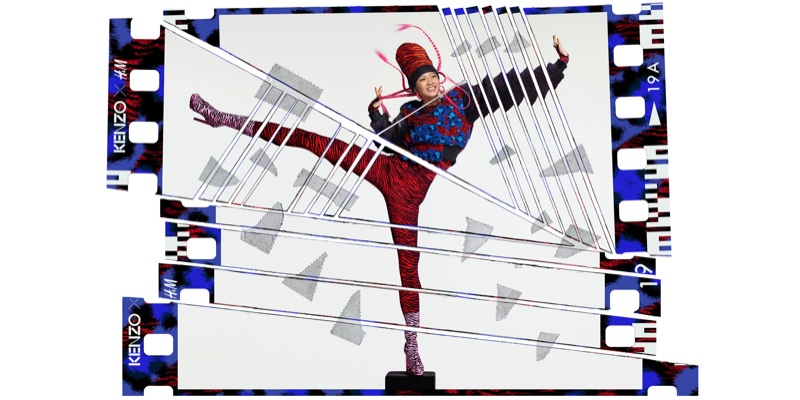 Jean-Paul Goude photographs the Kenzo x H&M campaign