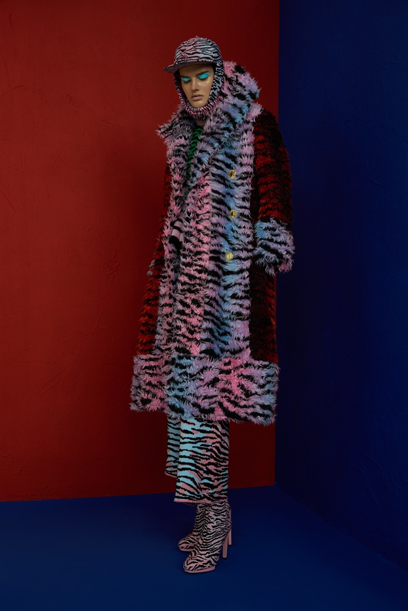 Layering up, Dorota Kullova wears a look from the Kenzo x H&M collaboration