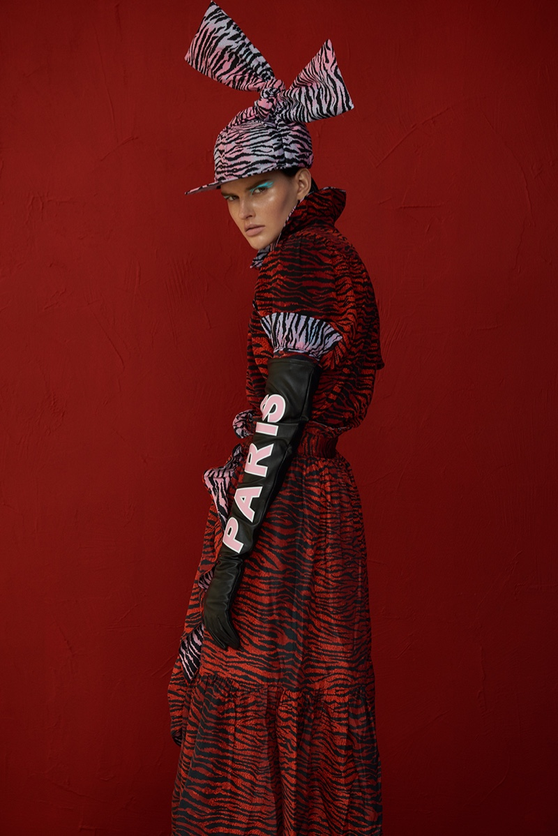 Emma Magazine Features Another Look at the Kenzo x H&M Collection