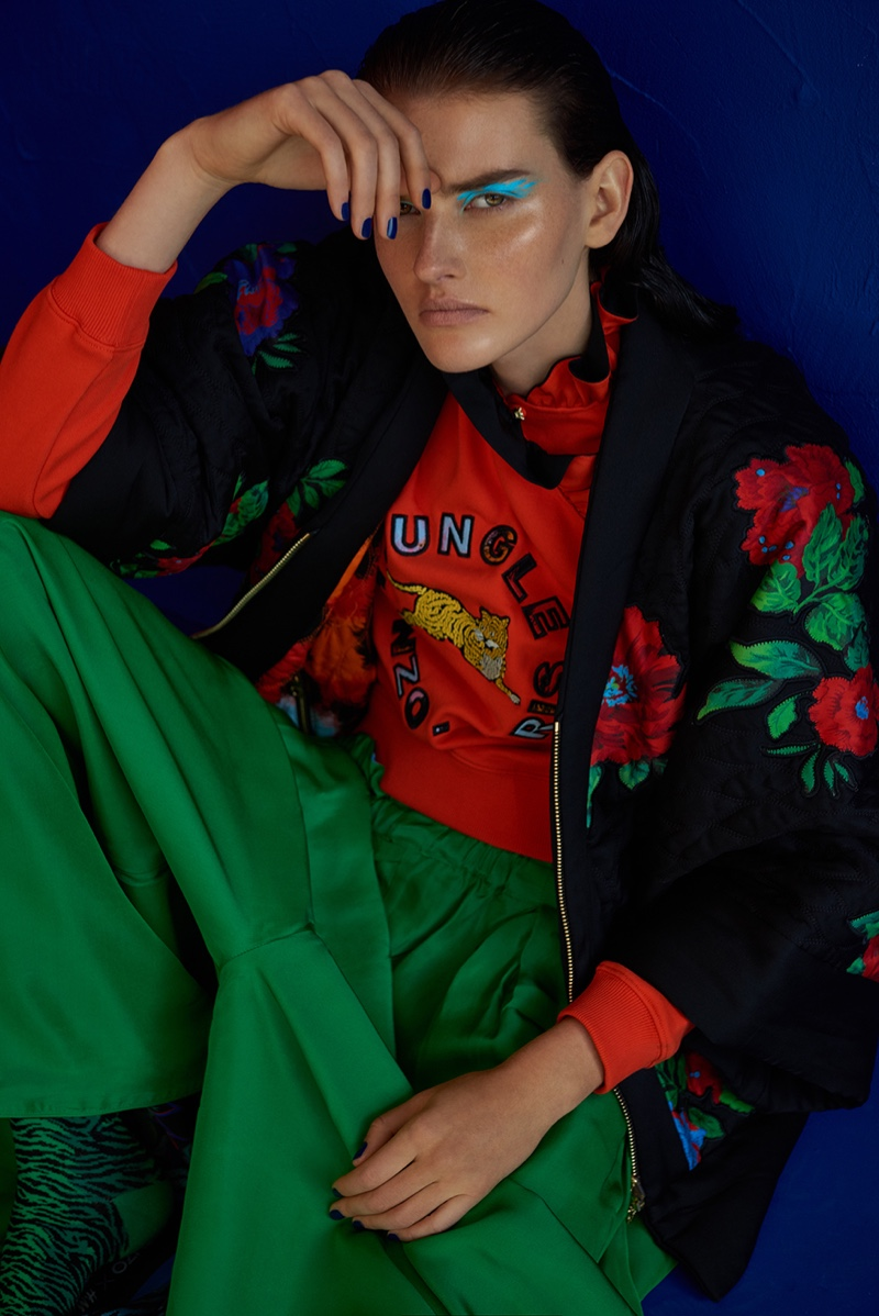 The Kenzo x H&M collaboration is spotlighted in Emma Magazine