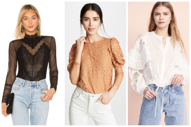 Discover the season's best lace tops