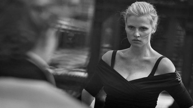 Lara Stone Gets Cinematic for Vogue Netherlands