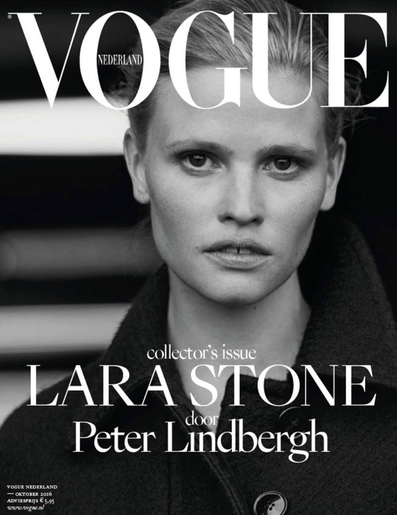 Lara Stone on Vogue Netherlands October 2016 Cover
