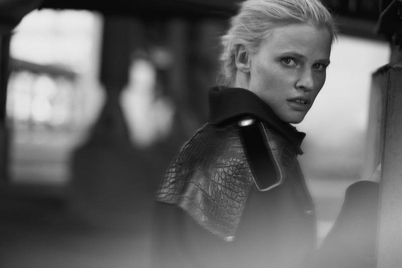 Model Lara Stone gets her closeup in Vogue Netherlands