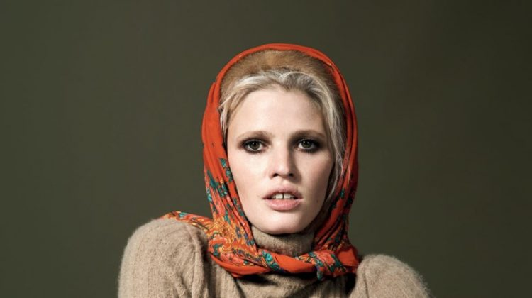 Lara Stone Wears Eclectic Style for Vogue Turkey