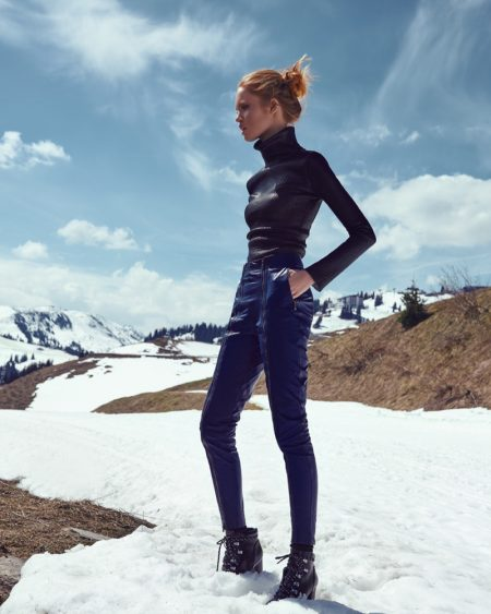Luisa Bianchin Hits the Slopes in Style for Harper's Bazaar Czech