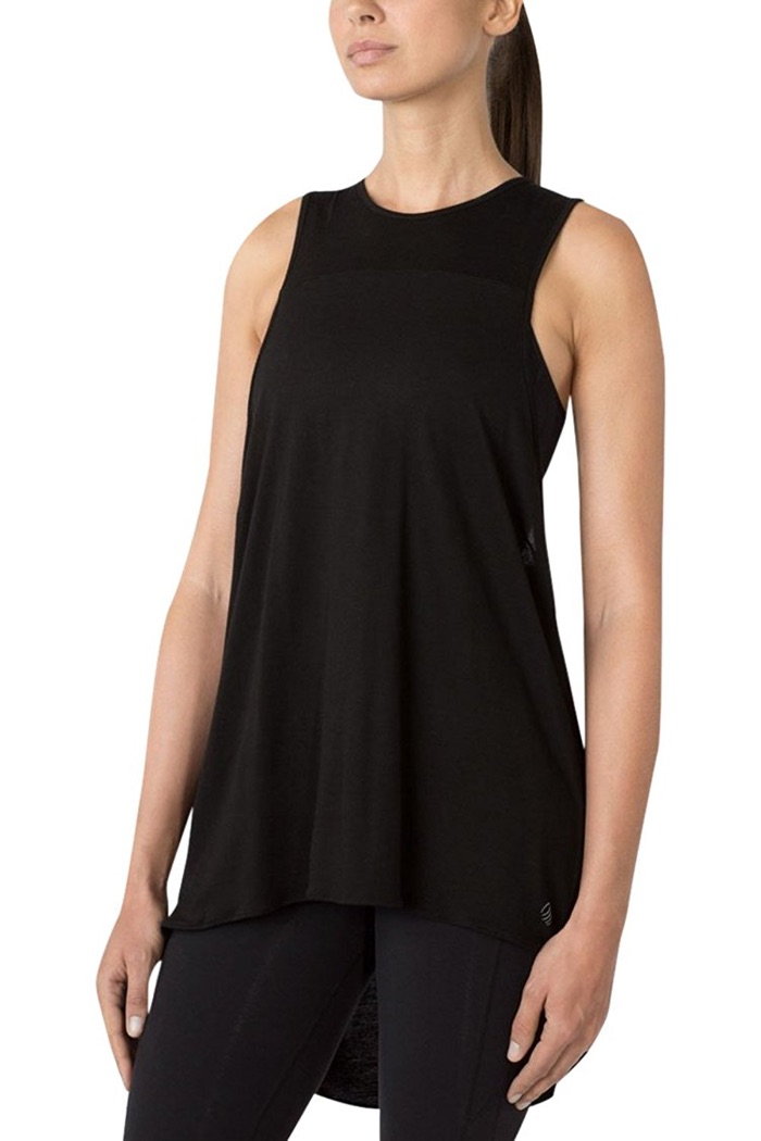 MPG by Julianne Hough Collection Rotary Curtain Back Tank