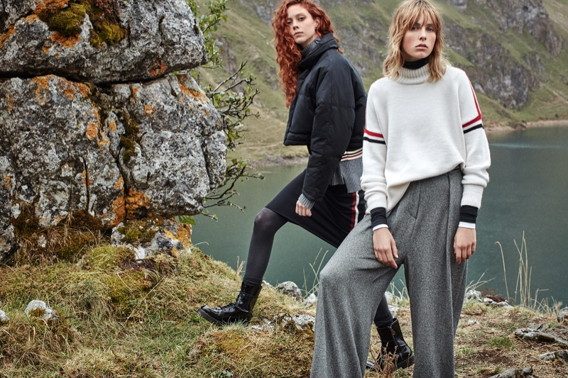 Edie Campbell and Natalie Westling star in Mango's November campaign
