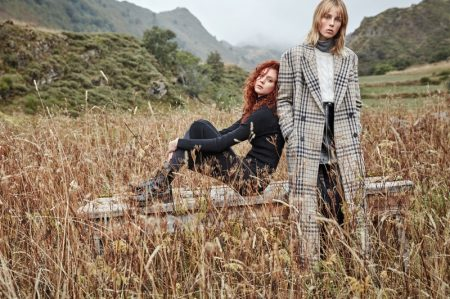 Edie Campbell & Natalie Westling Head to the Great Outdoors for Mango's Latest Campaign