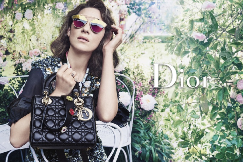 Photographed by Craig McDean, Marion Cotillard appears in Lady Dior's resort 2017 advertising campaign