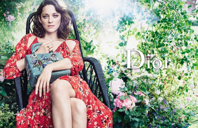Actress Marion Cotillard poses at Christian Dior's childhood home for Lady Dior campaign