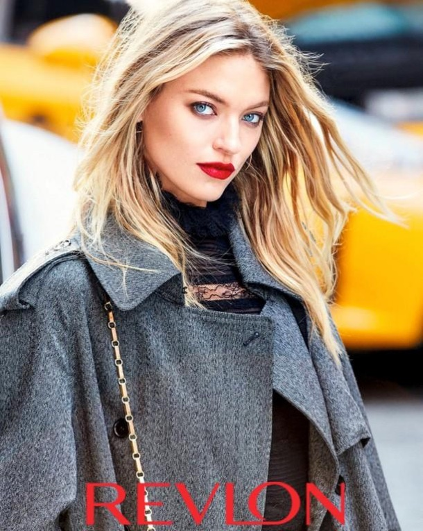 Martha Hunt hits the streets of New York for Revlon