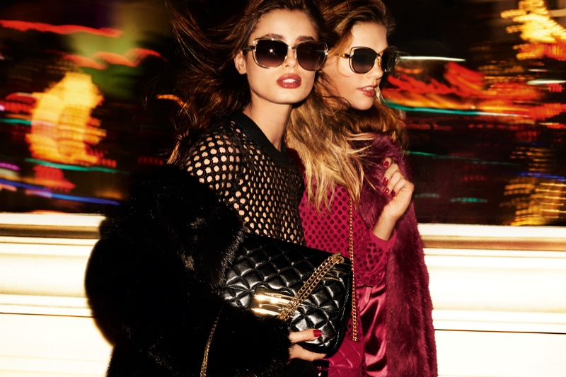 Taylor Hill and Emmy Rappe star in Michael Michael Kors holiday 2016  campaign b4d332dd80d4f
