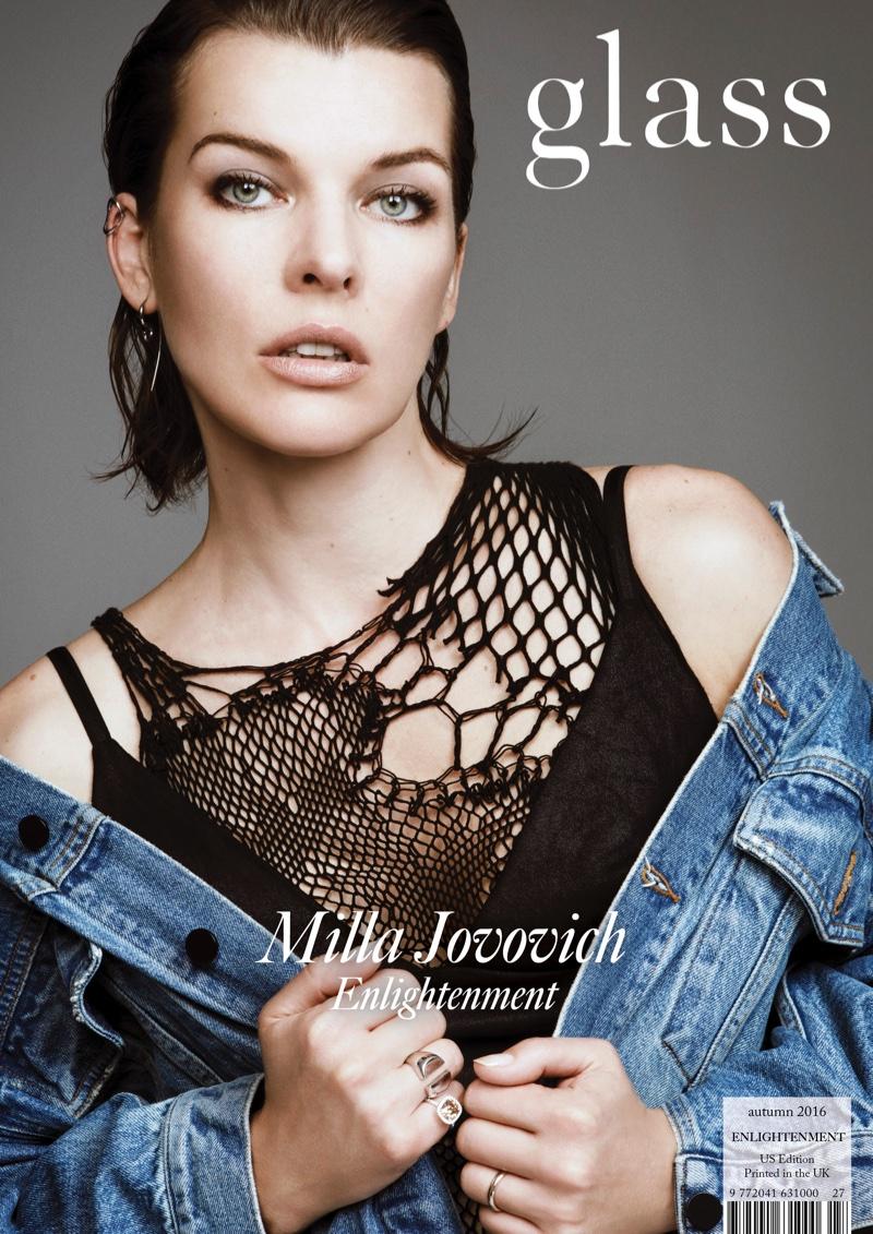 Milla Jovovich on Glass Magazine Fall 2016 Cover