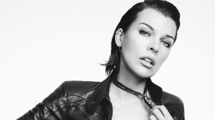 Milla Jovovich Poses in Sleek Looks for Glass Magazine