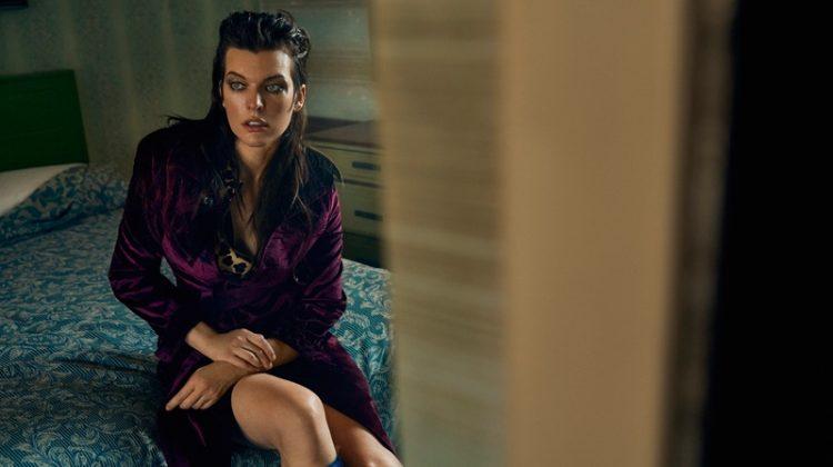Milla Jovovich Looks Motel Chic in Vogue Ukraine