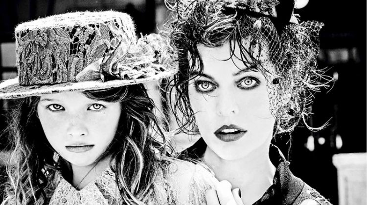 Milla Jovovich Joins Her Daughter for 30's Inspired Vs. Magazine Spread