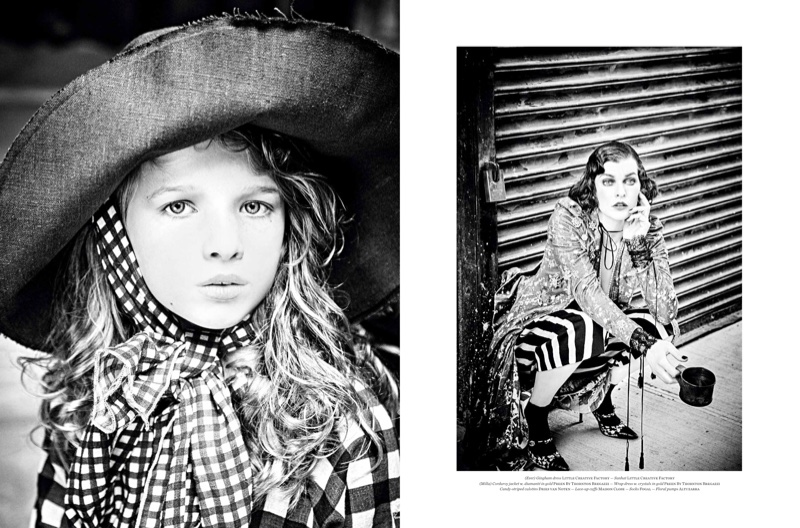 Ever Gabo takes after her mother Milla Jovovich in the fashion shoot