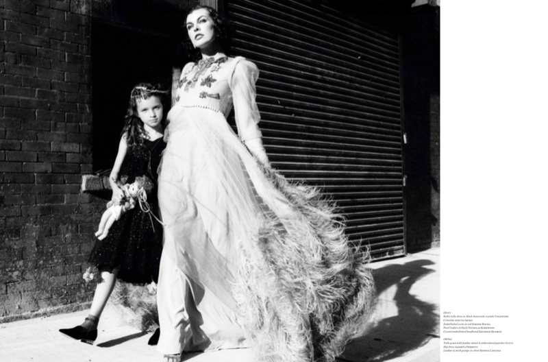 Milla Jovovich and her daughter Ever Gabo Jovovich-Anderson star in Vs. Magazine