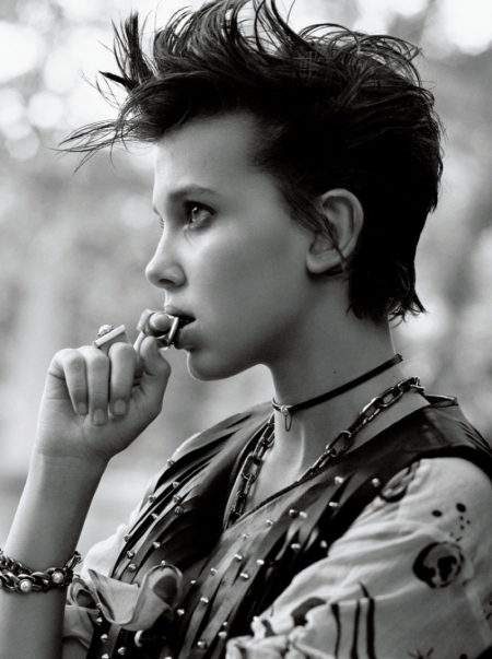 'Stranger Things' Star Millie Bobby Brown Poses for Interview Magazine