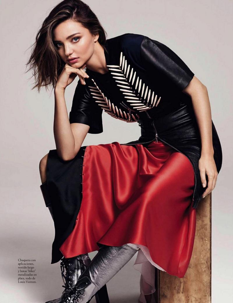 Miranda Kerr Models Louis Vuitton for ELLE Spain Cover Shoot